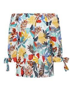 Esprit - Offshoulder-Bluse mit angesagtem Print