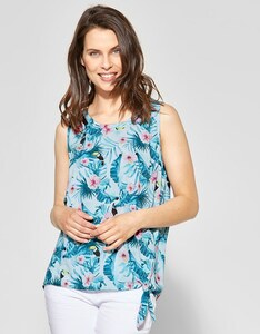 CECIL - Bluse mit Tropical Print