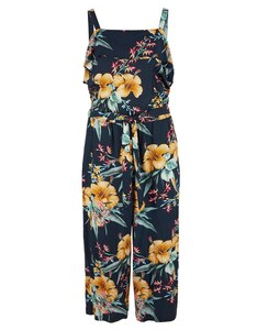 s. Oliver - Off Shoulder-Jumpsuit mit Blumenprint
