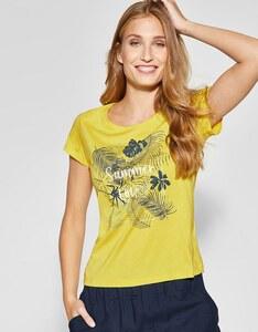 CECIL - T-Shirt mit Metallic-Effekt