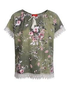 THEA - Shirt mit Blumendruck und Spitze