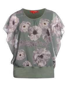 THEA - Blusen-Chiffon-Top mit Blumendruck