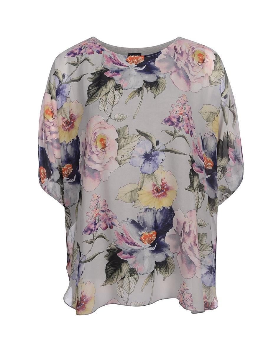 Bild 1 von Viventy - Bezaubernde Tunika-Bluse mit Blumendruck