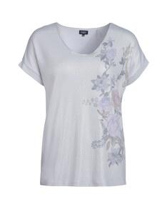 Viventy - schimmerndes Feinstrickshirt im oversized-Look mit floralem Druck