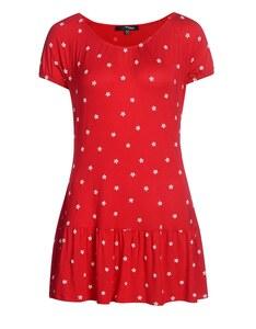 My Own - Jersey-Kleid mit Rubberprint und Schößchensaum