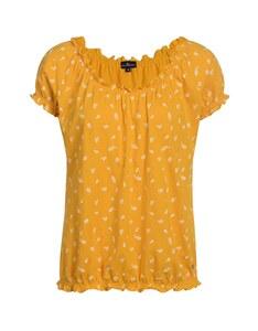 Via Cortesa - Shirt mit Rüschensaum und Blümchendruck, Baumwolle
