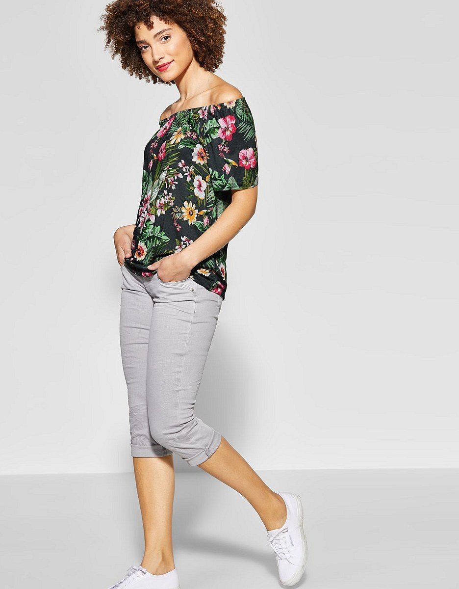 Bild 3 von Street One - Carmen Shirt mit Blumenprint