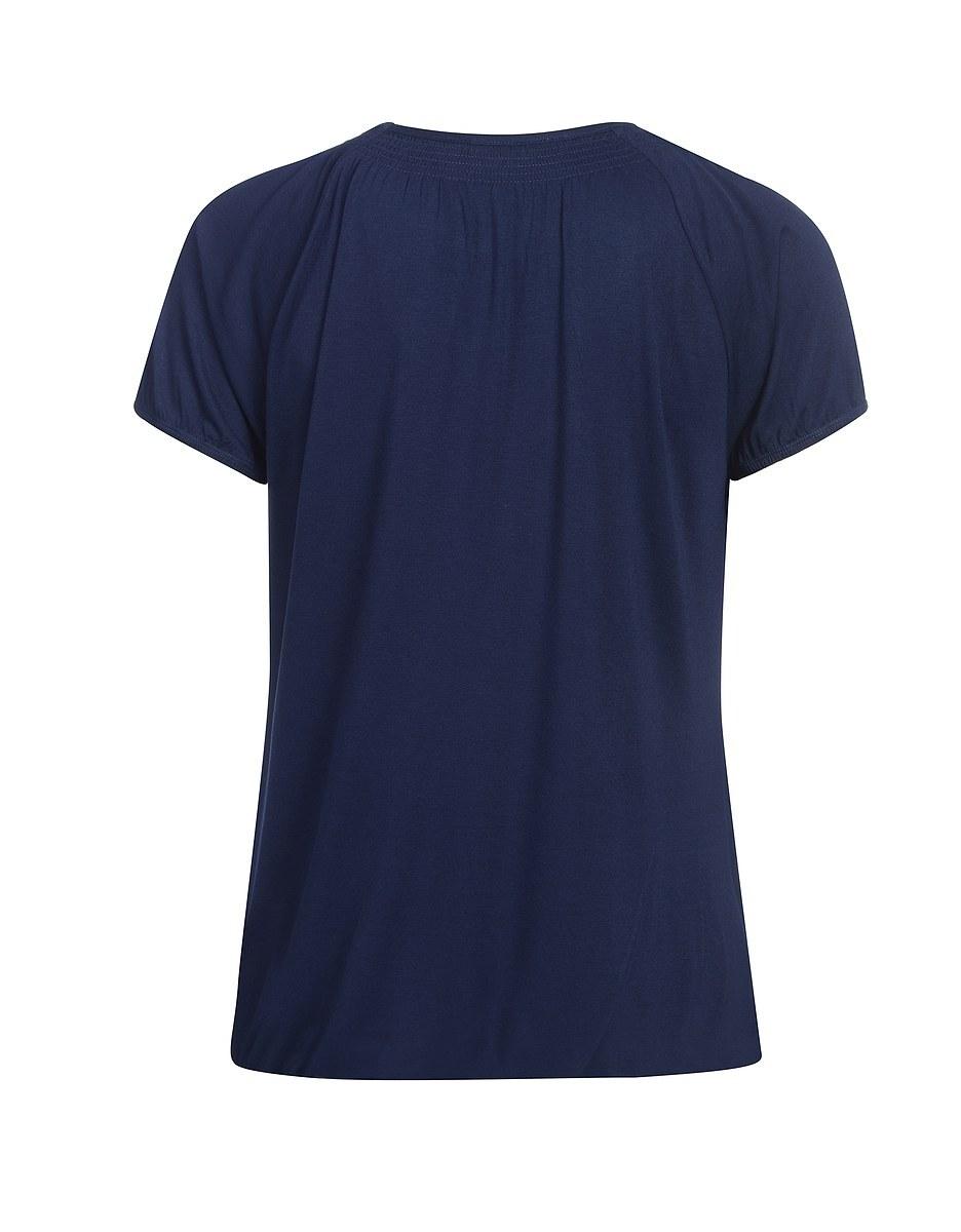 Bild 2 von Via Cortesa - unifarbenes Shirt mit Fake-Knopfleiste