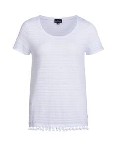 Via Cortesa - unifarbenes Jacquard-Shirt aus reiner Baumwolle
