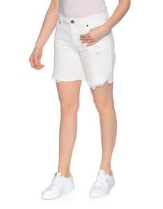 My Own - Jeans-Shorts mit Spitzenbesatz