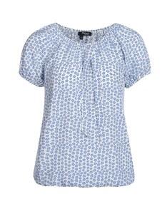 My Own - gemustertes Blusenshirt mit elastischem Bund aus reiner Viskose