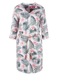 s. Oliver - Leinenkleid mit floralem Print