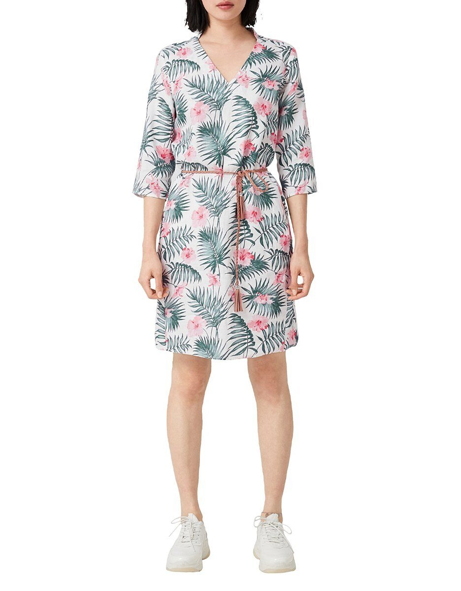 Bild 2 von s. Oliver - Leinenkleid mit floralem Print