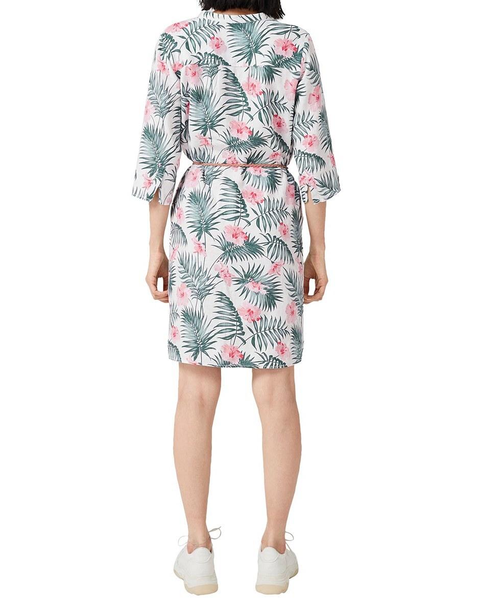 Bild 3 von s. Oliver - Leinenkleid mit floralem Print