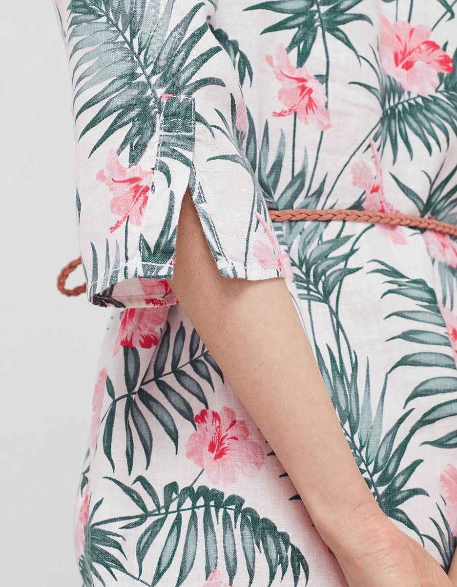 Bild 4 von s. Oliver - Leinenkleid mit floralem Print