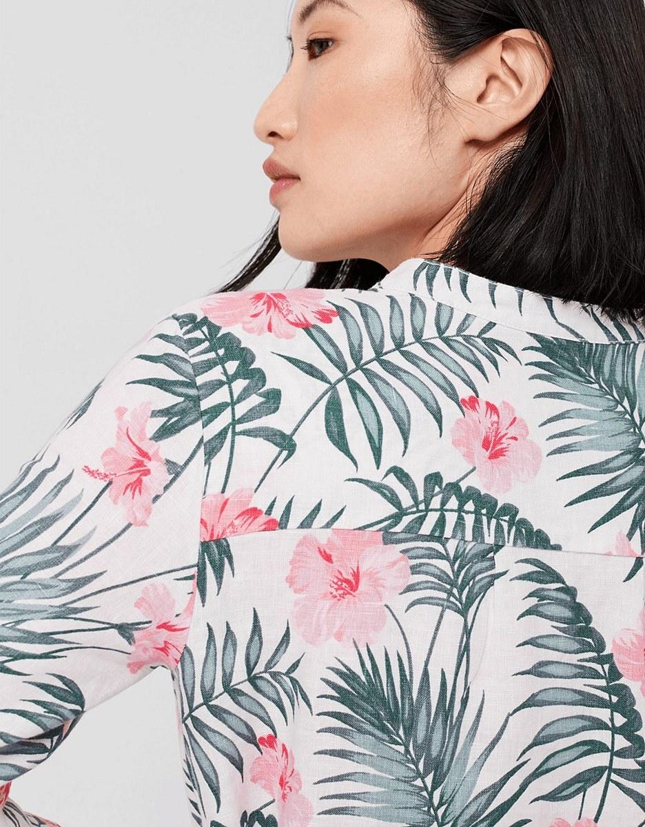 Bild 5 von s. Oliver - Leinenkleid mit floralem Print
