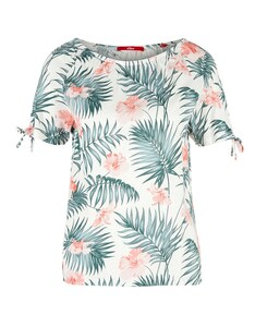 s. Oliver - Off-Shoulder-Shirt mit angesagtem Print