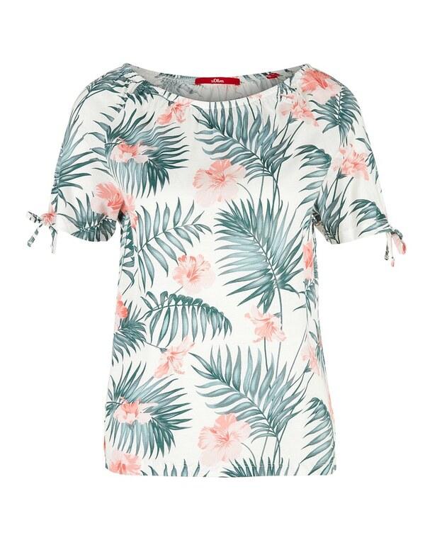 s. Oliver - Off-Shoulder-Shirt mit angesagtem Print