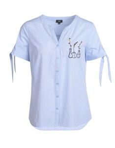 Bexleys woman - Baumwoll-Bluse mit Stickerei