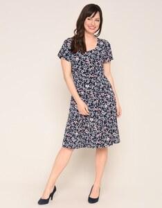 Bexleys woman - Jerseykleid mit floralem Druck und schwingender Saumweite