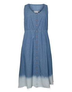 JUNAROSE - Pfiffiges Midi-Kleid im Jeanslook