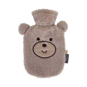 Wärmflasche mit Flauschbezug Bär