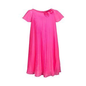 Kleid Flügelarm Plissee pink