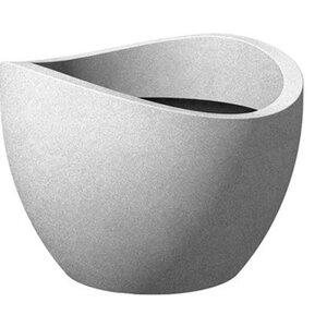Scheurich Pflanzgefäß Wave Globe Ø 30 cm Stony Grey