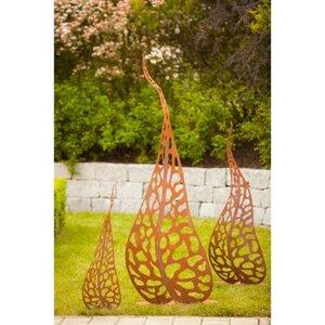 Ferrum Art Design Deko-Skulptur Blätter Gr.III 100 cm Edelrost