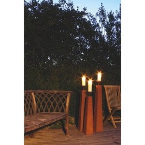 Ferrum Art Design Kerzenständer Romantico Gr.II 88 cm Edelrost