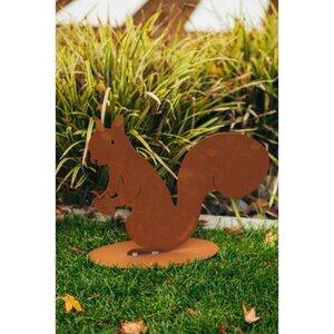 Ferrum Art Design Deko-Figur Eichhörnchen Felix 34 cm Edelrost