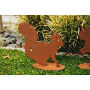 Ferrum Art Design Deko-Figur Eichhörnchen Pauline 36 cm Edelrost