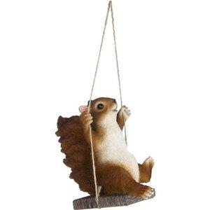 Deko-Figur Eichhörnchen auf Schaukel 14 cm