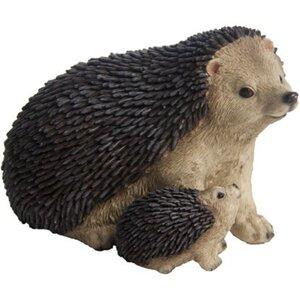 Deko-Figur Igel mit Kind 16 cm