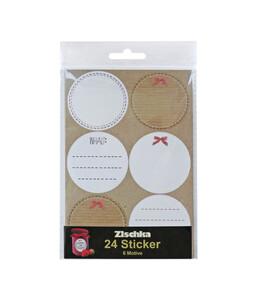 Braun + Company Sticker Blanko natur