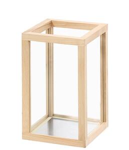 Dehner Glas-Windlicht Buche