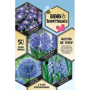 """Blumenzwiebeln """"Bienen & Schmetterlinge"""" Blau 50 Stück"""