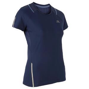 Laufshirt kurzarm Run Dry+ Damen marineblau