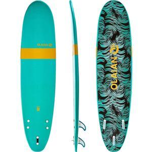 Surfboard 100 Schaumstoff Soft 8´ inkl. Leash und 3 Finnen