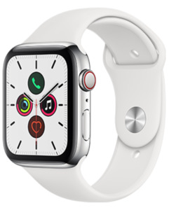 Apple Watch S5 LTE Steel 44 Sport mit o2 Free S mit 1 GB
