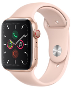 Apple Watch S5 LTE Alu 44 Sport mit o2 Free S mit 1 GB