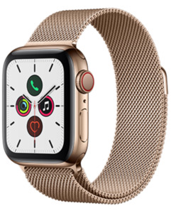 Apple Watch S5 LTE Steel 40 Milanaise mit o2 Free S mit 1 GB