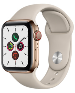 Apple Watch S5 LTE Steel 40 Sport mit o2 Free S mit 1 GB