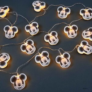 LED Papierlichterkette Mickey 20 Lichter