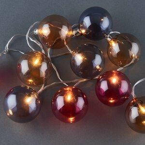 Lichterkette Glaskugel getönt 10 Lichter