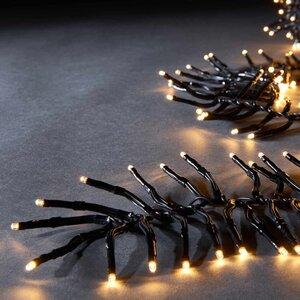 Lichterkette Cluster 576 Lichter schwarz