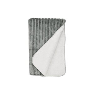 Decke geschoren 150x200 cm schwarz-weiß grau