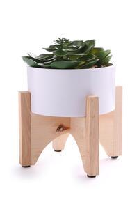 Kunstpflanze mit Holzständer