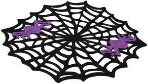 Platzmatte - Spinnenweben - aus Filz - Ø = 38 cm
