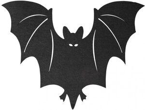 Platzmatte - Fledermaus - aus Filz - 49 x 37 cm